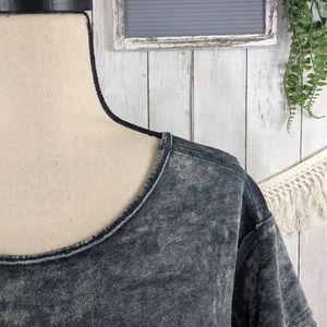 Green Tea Women's Short Sleeve Crushed Velvet Top,